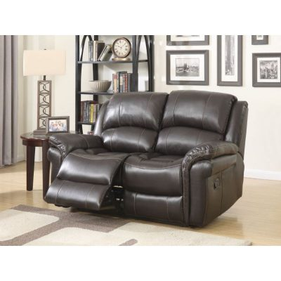 Clayton 2 Seater Leather Look Fabric Recliner Sofa