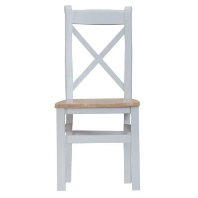 Taunton Cross Back Dining Chair with Wooden Seat
