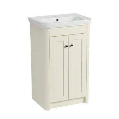 R2 Halcyon 500mm Freestanding Vanity Unit Natural White