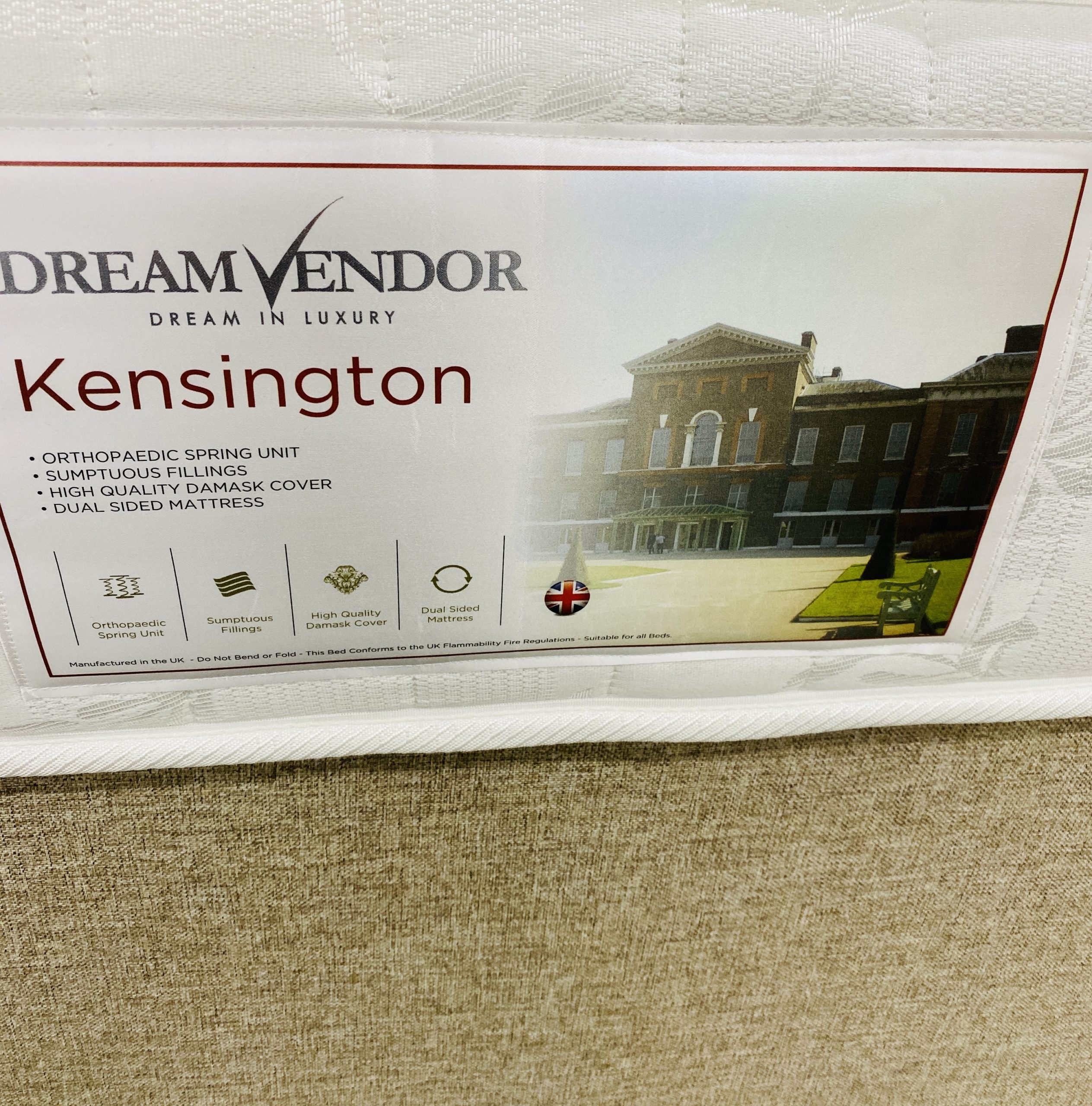 Dream vendor Kensington Divan Set 4 Size Options